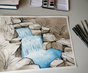 aquarell, color, and drawing image