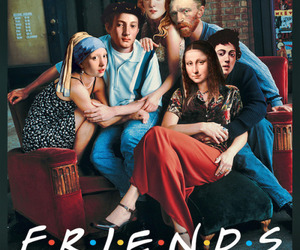 friends, art, and mona lisa image