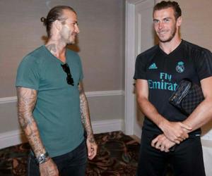David Beckham, football, and real madrid image
