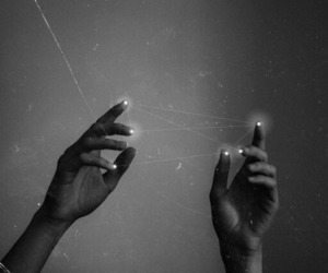 black and white, aesthetic, and hands image