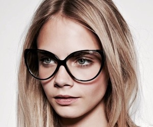 model, cara delevingne, and glasses image