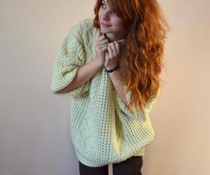ginger, girl, and sweater image