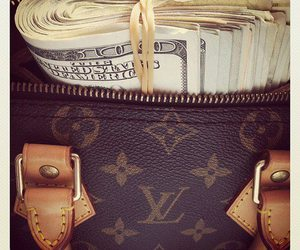 money, Louis Vuitton, and dollar image