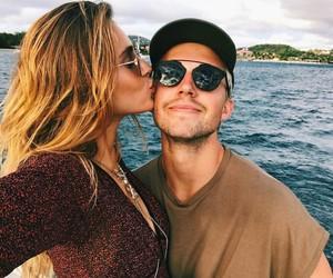 stefaniegiesinger, couple, and kiss image