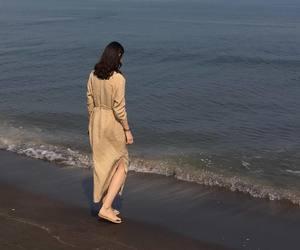girl, model, and sea image