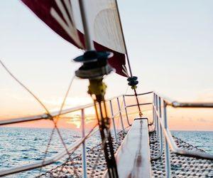 adventure, ocean, and sailboat image
