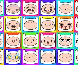 funny faces, finn, and aventure time image