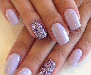 chic, nail art, and manicure image