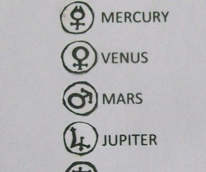 planet, symbol, and moon image