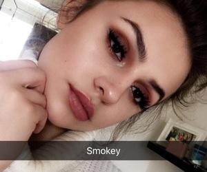glow, makeup, and smokey image