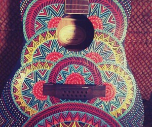 guitar, hipster, and music image