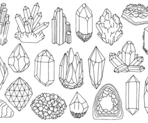 crystal and drawing image