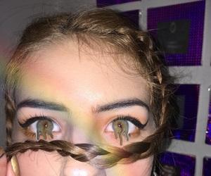 arcoiris, eyeliner, and eyes image