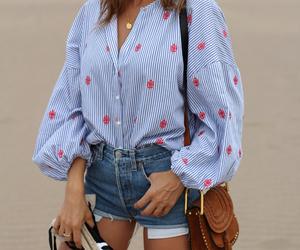 blogger, blue shirt, and boho image
