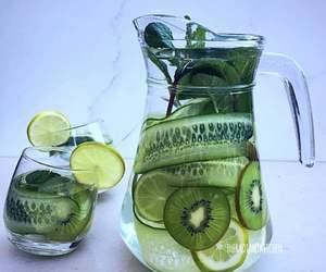 drink, green, and lemonade image