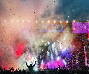 colors, concert, and confetti image