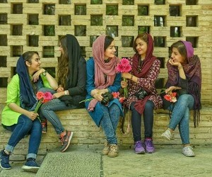 best friends, flowers, and iran image