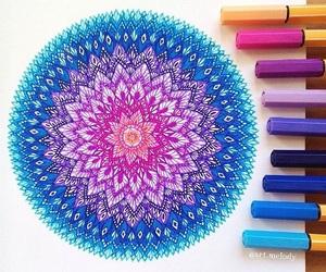 mandala, colors, and drawing image