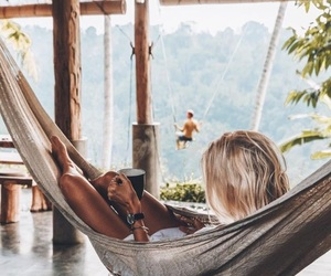 girl, summer, and relax image