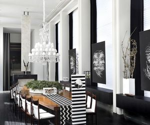 dining room, dining table, and dream house image
