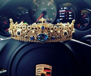 car, crown, and drive image