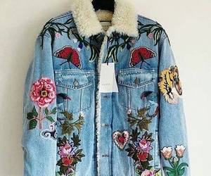embroidered, jacket, and fashion image