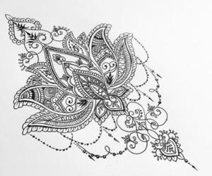 tattoo, drawing, and mandala image