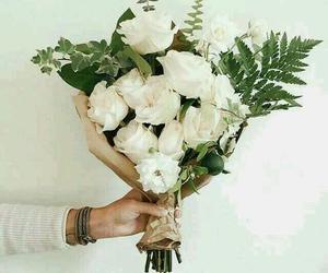 flowers, ًورد, and ابيضً image