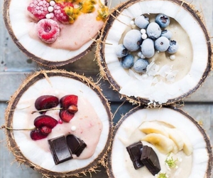 food, fruit, and coconut image
