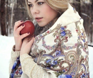 apple, art, and blond image