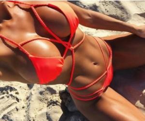 beach, bikini, and body goals image