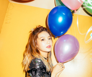 balloons, soo young, and photoshoot image