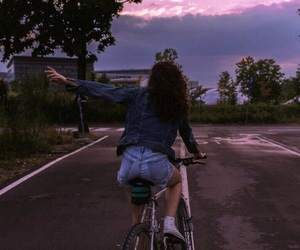 girl, bicycle, and summer image