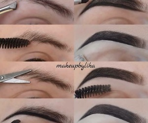 eyebrows, party, and girls image