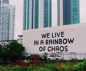 chaos, rainbow, and quote image