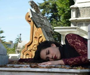 actress, cemetery, and dead image
