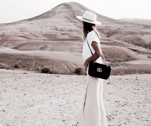 fashion, girl, and desert image