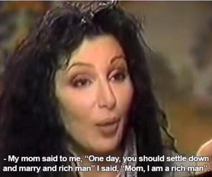 cher, quotes, and feminist image