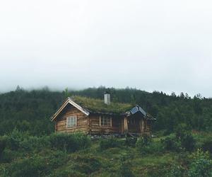 cabin, escape, and mountain image