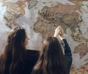 besties, friend, and maps image
