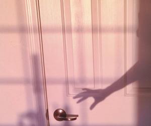 pink, shadow, and door image