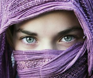 eyes and purple image