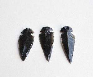 bow and arrow, native american, and obsidian image