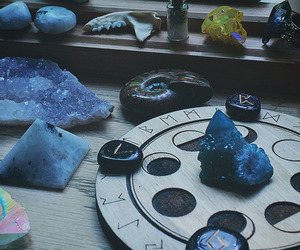 magic, witch, and crystal image