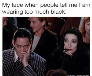 addams family, black, and black clothes image