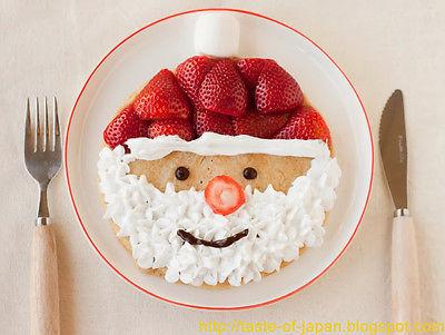food, strawberry, and santa image