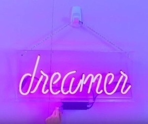 dreamer, purple, and neon lights image