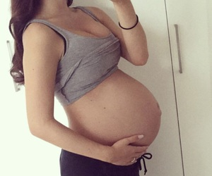 love, baby bump, and pregnancy image