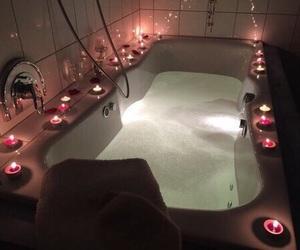 candle, bath, and light image