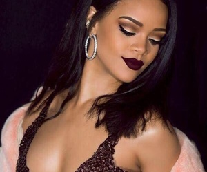 rihanna, makeup, and riri image